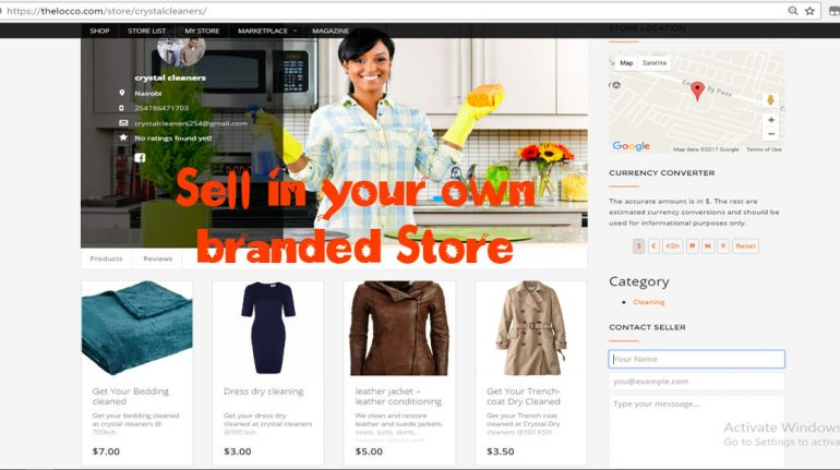 Sell in your Own Branded store thelocco